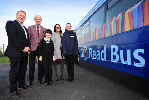 Spennymoor special school launches library-on-wheels with Go North East bus donation