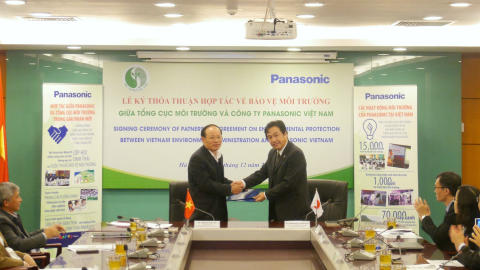 Vietnam Environment Administration and Panasonic Vietnam  Sign Partnership Agreement on Environmental Protection