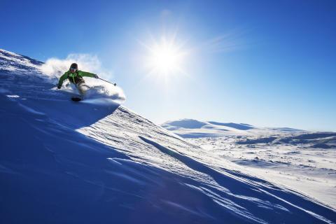 136 nedfarter på ett Skipass