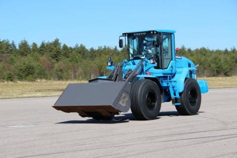 Världsrekordförsök med Volvo L60G PCP - världens snabbaste hjullastare