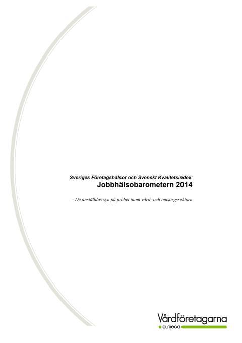 Jobbhälsobarometern 2014