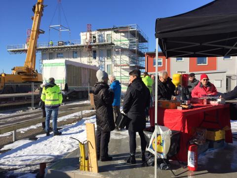 Montagevisning med korvgrillning i Ystad