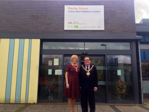 Mayor and Mayoress at Derby Street Children's Centre