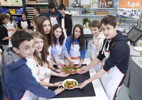 El programa TAS orientado al fomento de hábitos saludables  llegará a más de 1.400 alumnos de 38 centros escolares de toda España