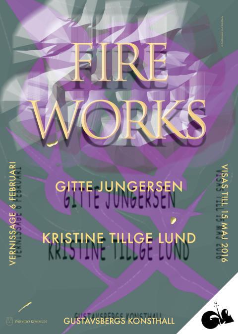 FIRE WORKS. Utställningsaffisch.