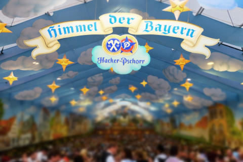 Hacker-Pschorr Himmel der Bayern Wiesn 2014