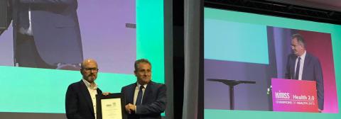 Det digitala sjukhuset Hälsobyn vann eftertraktat pris under HIMSS i Helsingfors