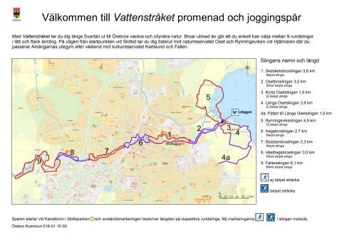 Karta över Vattenstråket