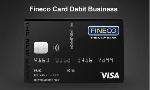 Fineco Card Debit Business Visa Italia
