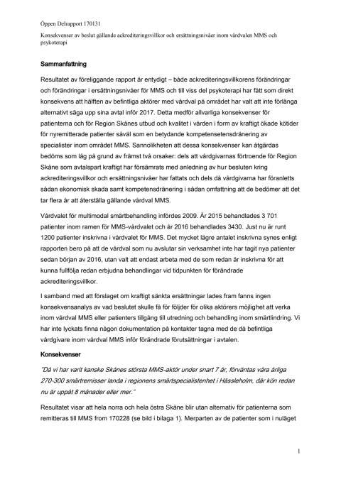 Rapport: Hälften av MMS-mottagningarna läggs ner