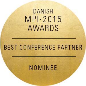 MCI Copenhagen har blivit nominerad till priset Årets Best Conference Partner - MPI Awards 2015!