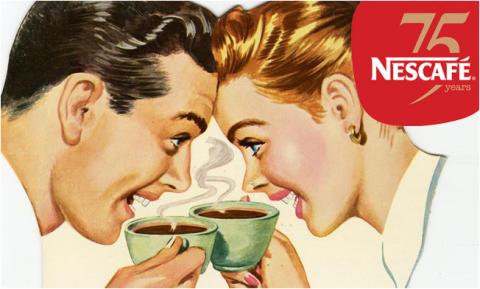Nu firar Nestlé 75 års jubileum av innovationen Nescafé