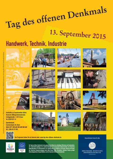 Tag des offenen Denkmals 2015 - Handwerk, Technik, Industrie