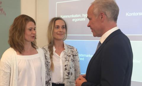 Norges minister for kundskab og integration på besøg på TEC