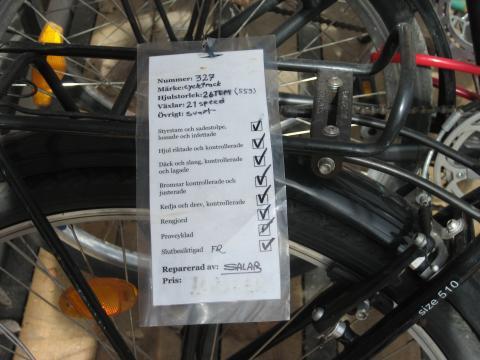 Varje cykel är kontrollerad och slutbesiktad enligt Returhusets checklista.