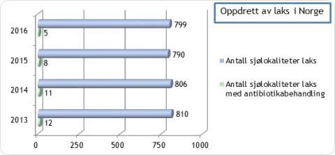 Norsk lax är helt fri från antibiotika