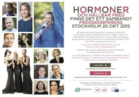 Hormoner och hållbar fred – finns det ett samband? Fredskonferens 20 oktober 2015