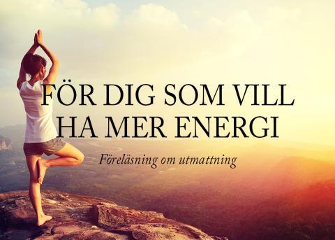 Föreläsning om utmattning i Göteborg (öppen för allmänheten)