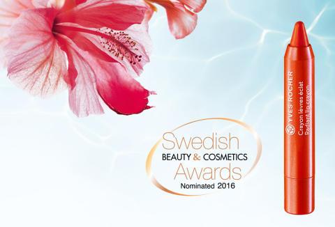 Radiant Lip Crayon är nominerad till Årets läpprodukt