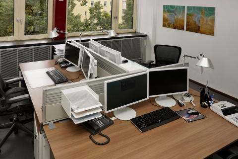 Mitarbeiterzimmer 3-Platz-Lösung