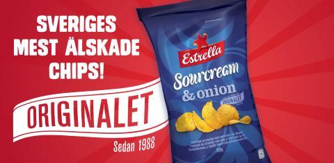 Estrella Sourcream & Onionchips Orginalet