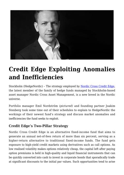 Credit Edge Exploiting Anomalies and Inefficiencies