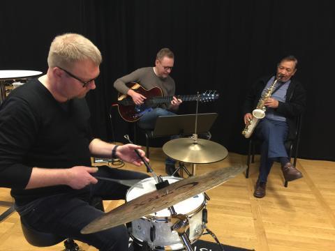 Harold Jefta och Jazz  Unit på turné till Sydafrika