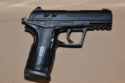 The pistol used by O'Shea