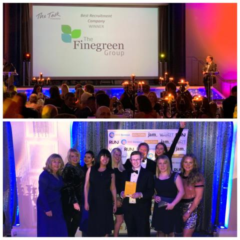 The Finegreen Group named Best Recruitment Company at the Talk of Manchester Business Awards 2018