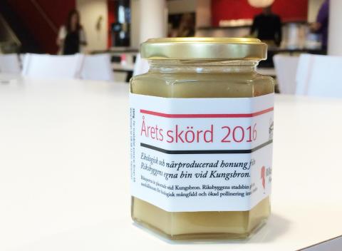 Riksbyggens honung, lokalproducerad mitt i Stockholms City