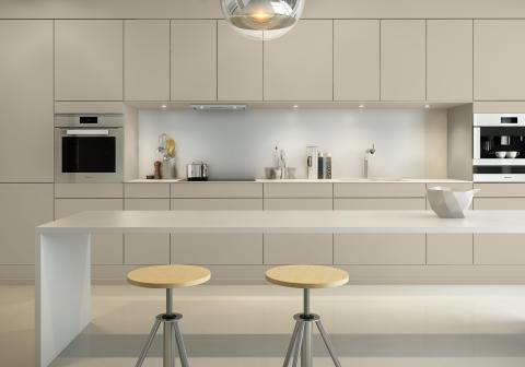 Sigdal kjøkken - Amfi Eik, fargekode: Jotun Sand S2005 Y30R