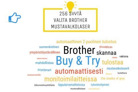 256 syytä valita Brother mustavalkolaser