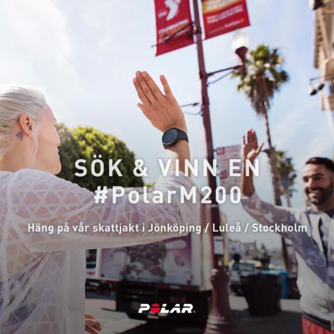 Sök och vinn en Polar M200 - Skattjakt den 24/2