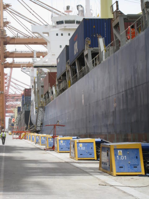 Image of Cavotec MoorMaster™ MM200C units at the Port of Salalah, Oman