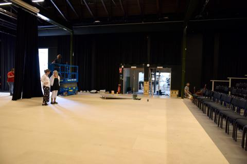 Renovering av stora salen i Lokstallarna