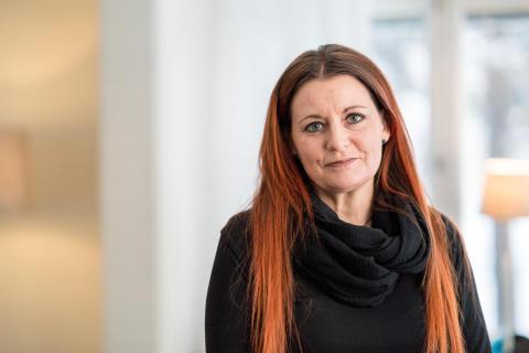 Karina Salomonsson, verksamhetschef för 1177 Vårdguiden på telefon i Västerbotten.