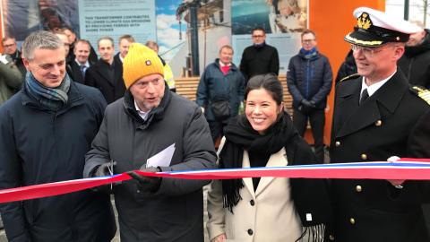 Landstrømforbindelse ble  innviet i Oslo 8. januar