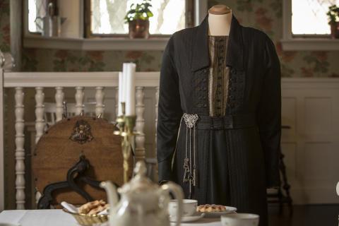 Mrs Hughes klänning, visas i tjänstefolkets matsal