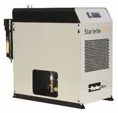 Parker introducerar den kostnadseffektiva och energisparande kyltorkserien StarlettePlus-E för effektiv borttagning av vattenånga från tryckluft