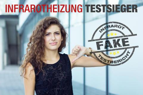 """Vorsicht vor falschen Infrarotheizung """"Testsiegern"""""""