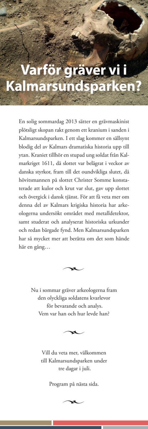 Program för Kalmarkrigsdagarna