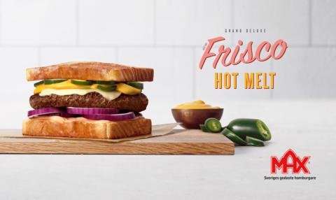 Max lanserar Frisco Hot Melt – en hyllning till burgarkulturen