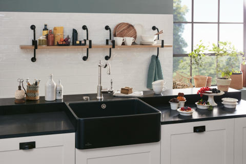 An even more minimalist take on timelessly modern individuality – the latest addition to Villeroy & Boch's range of butler sinks