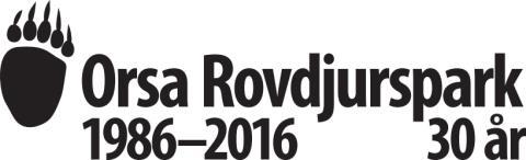 Orsa Rovdjurspark 30 år logotyp
