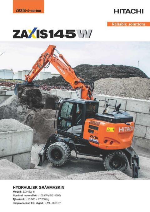 Broschyr Hitachi ZX145W-6