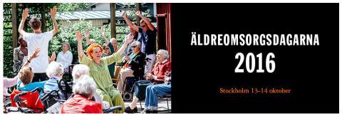 Äldreomsorgsdagarna,  13 - 14 oktober 2016, Stockholmsmässan