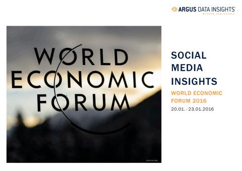 Case Study: Social Media Insights - World Economic Forum 2016