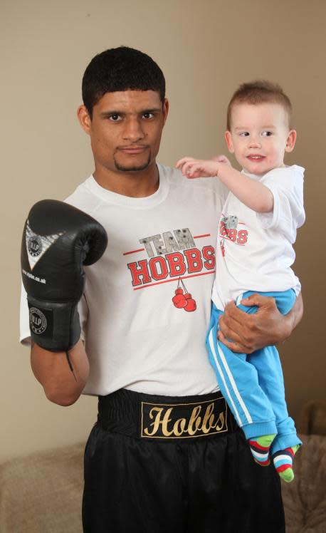 Boxer Chris Hobbs weighs in to help toddler James Mills