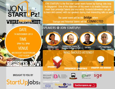 [EVENT] JOIN STARTUPz! Jobs Fair - Startup Jobs Asia