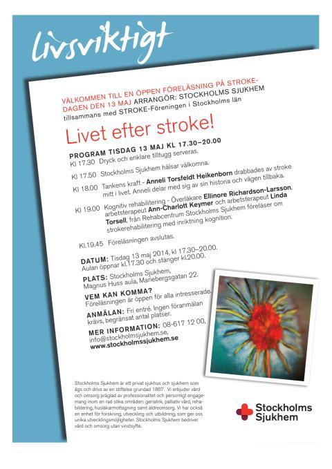 Livsviktigt - Öppen föreläsning om stroke